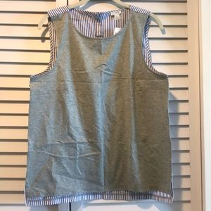 Gray and blue striped tank from J. Crew Factory